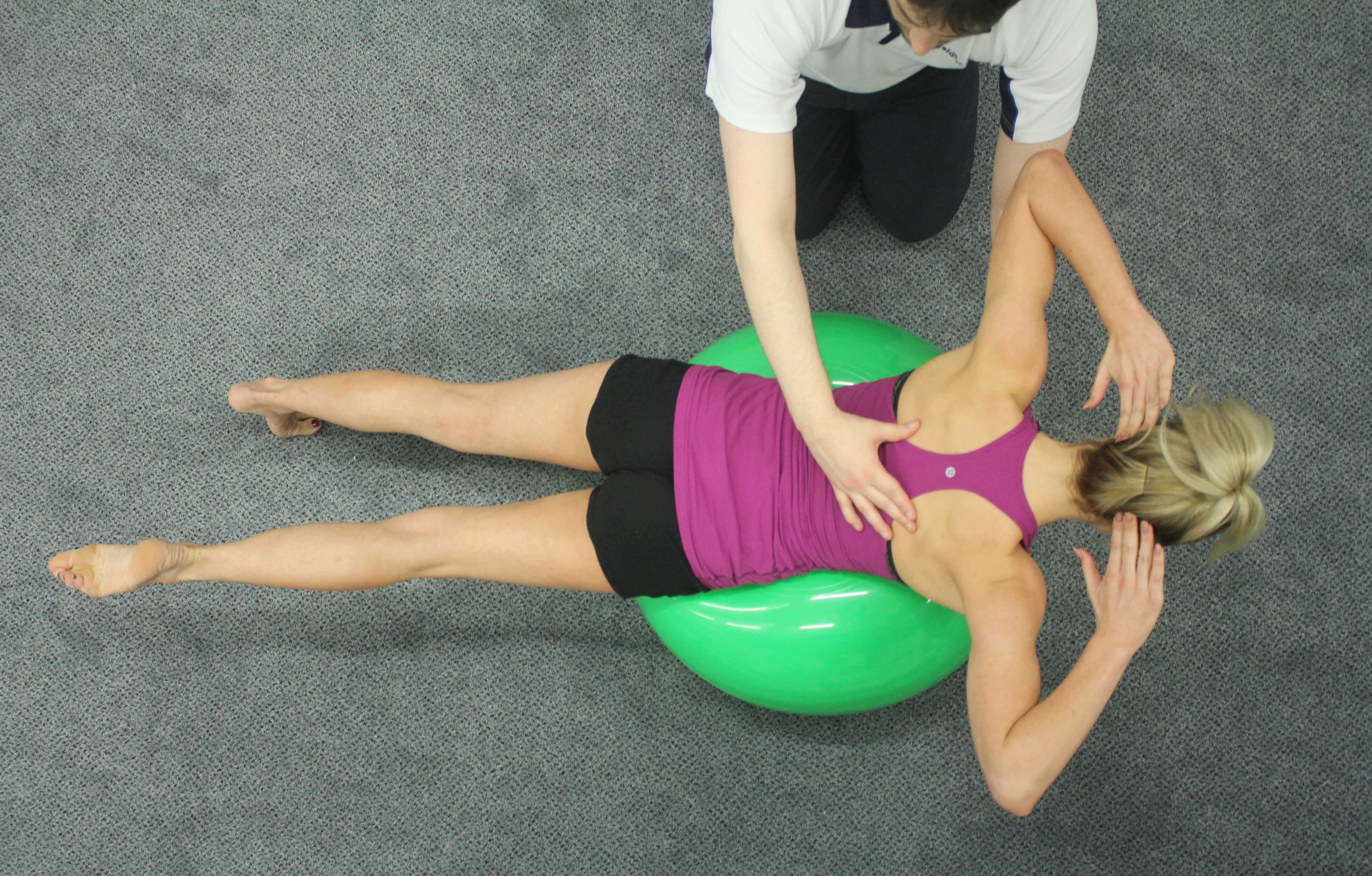 Our physiotherapists will teach you exercises to engage your postural muscles to help with alignment.