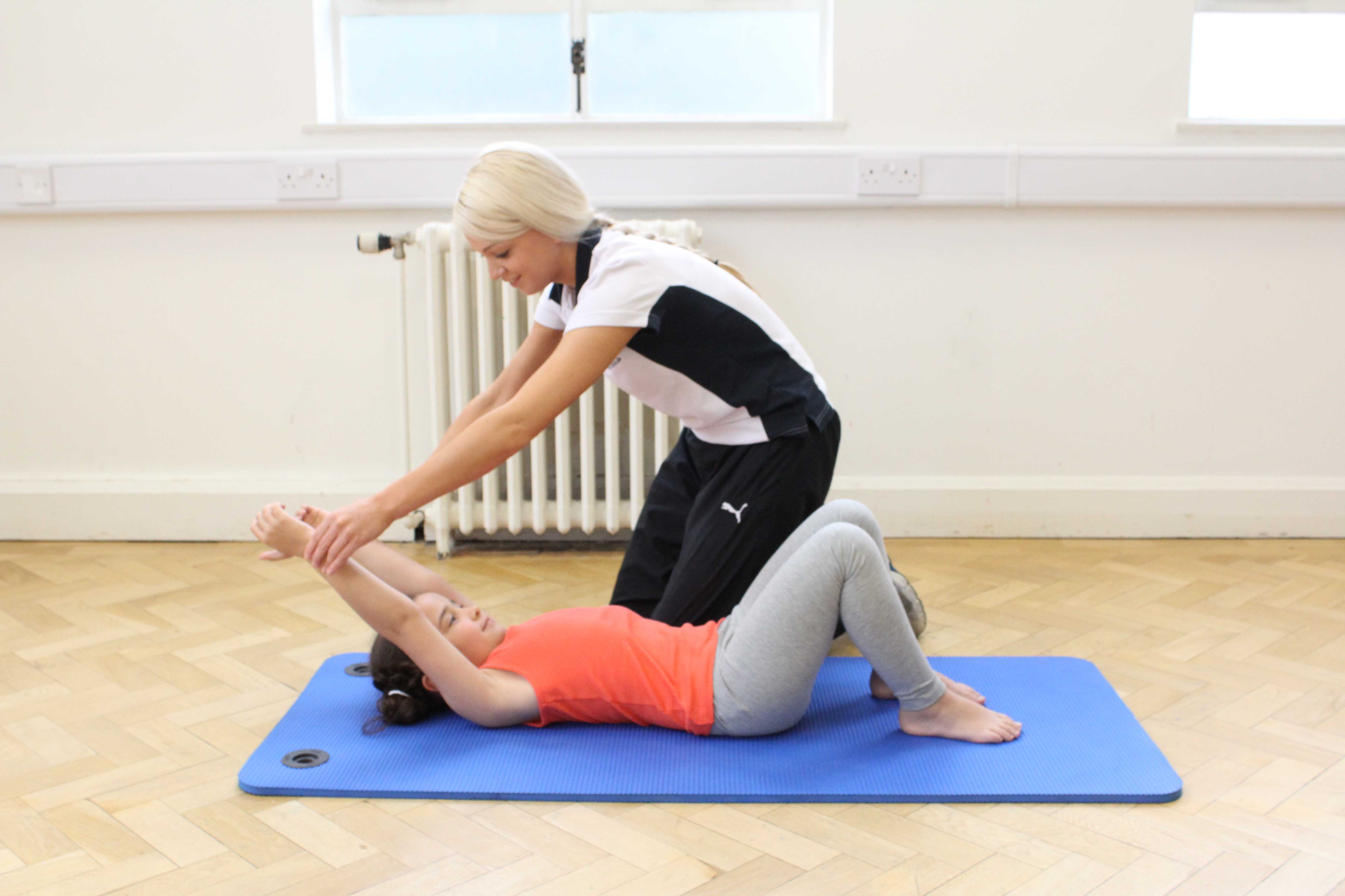 Stretches and exercises to improve exercise tolerance and flexibility