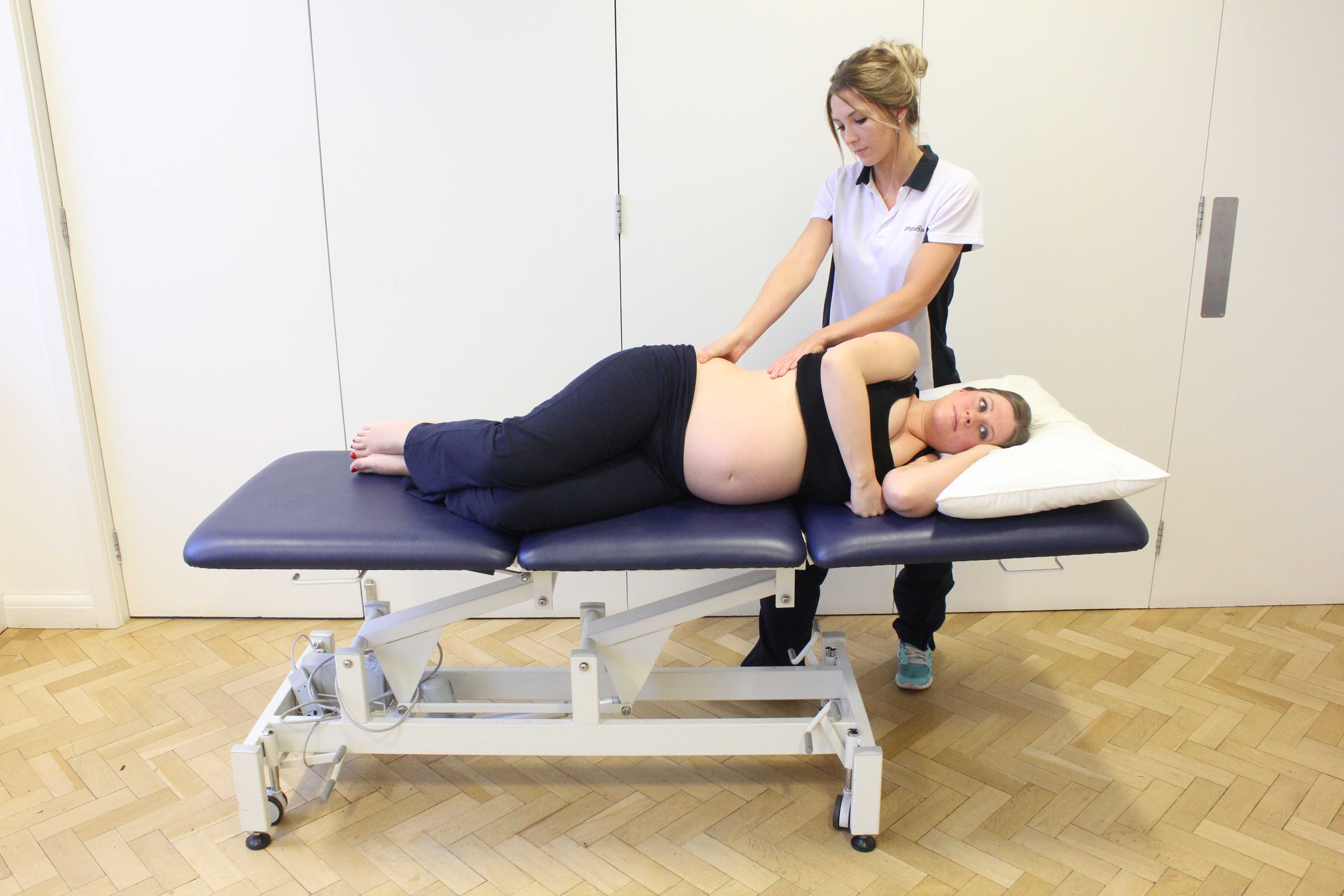 Soft tissue massage to ease muscle pain associated with pregnancy