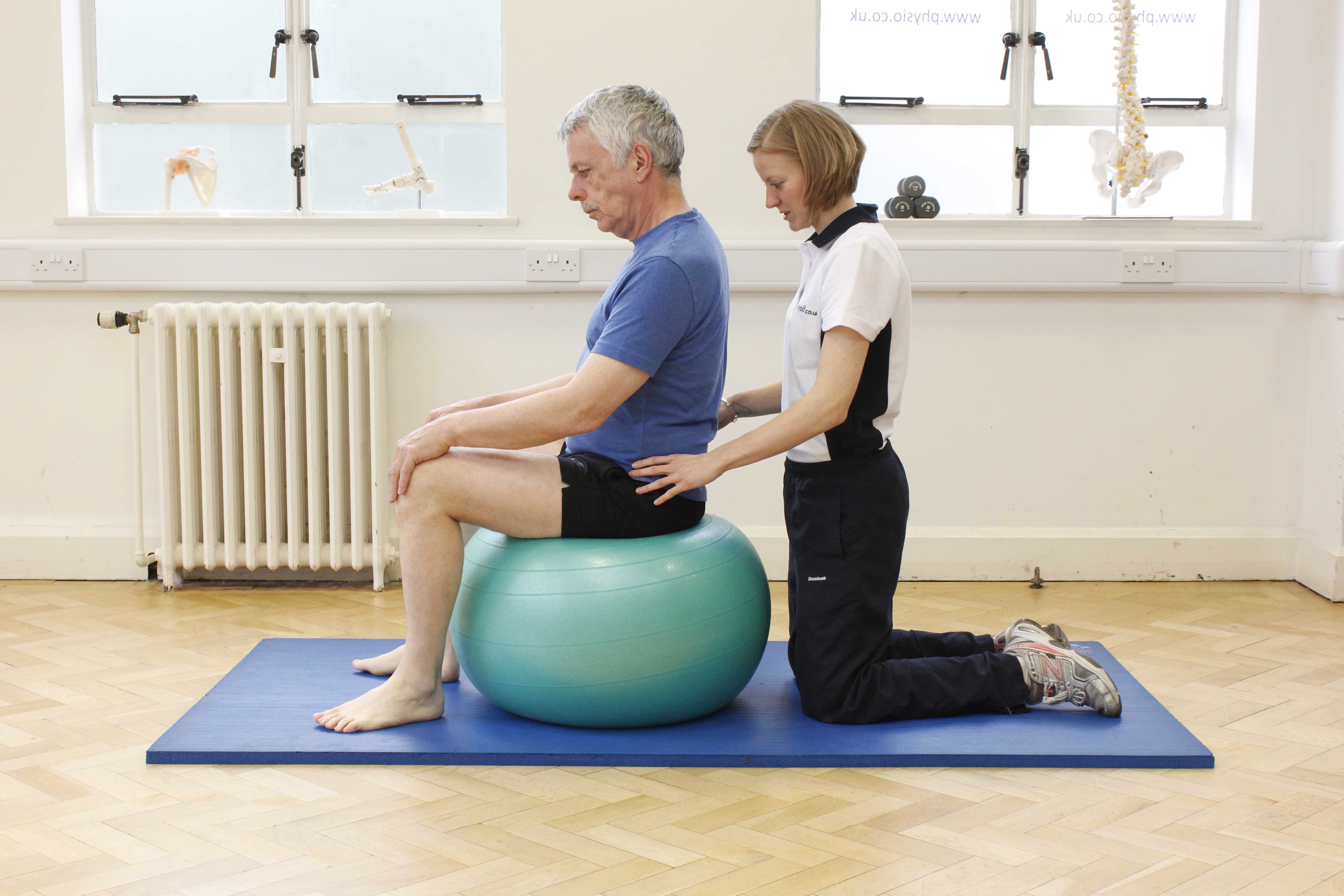 Core stability and proprioception exercises assisted by specialist physiotherapist