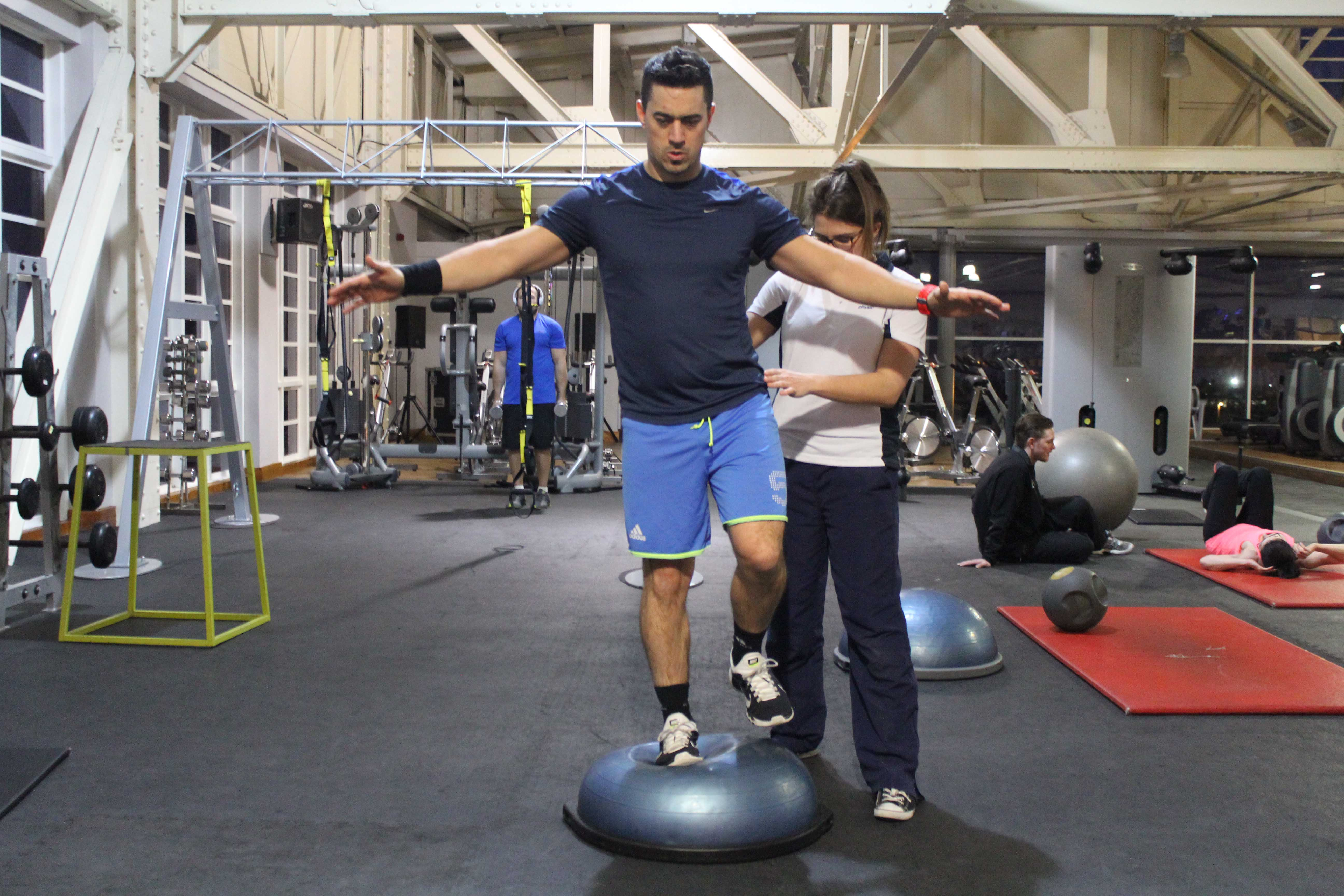 Knee stability exercises supervised by specialist MSK physiotherapist