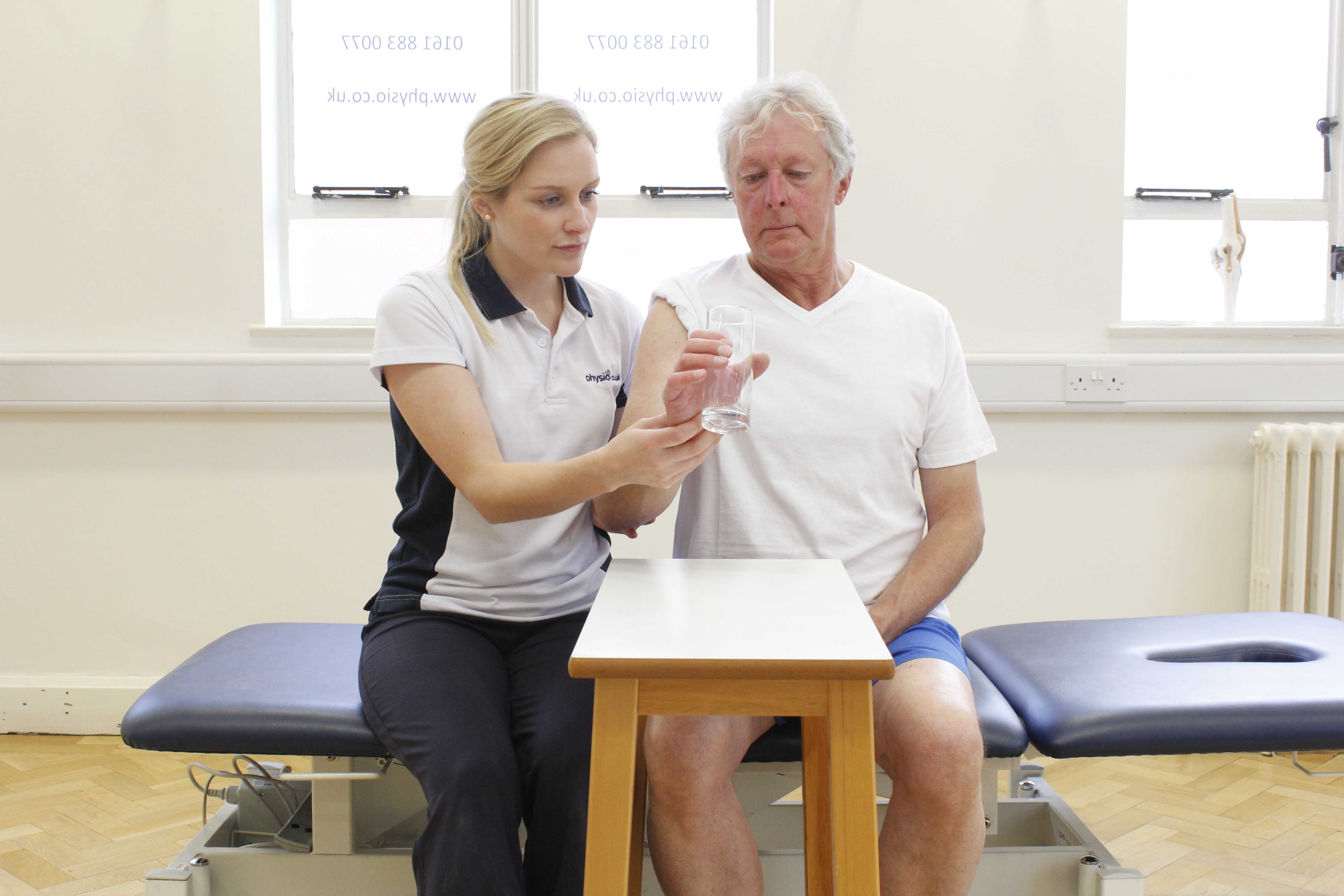 functional wrist exercises supervised by experienced MSK physiotherapist