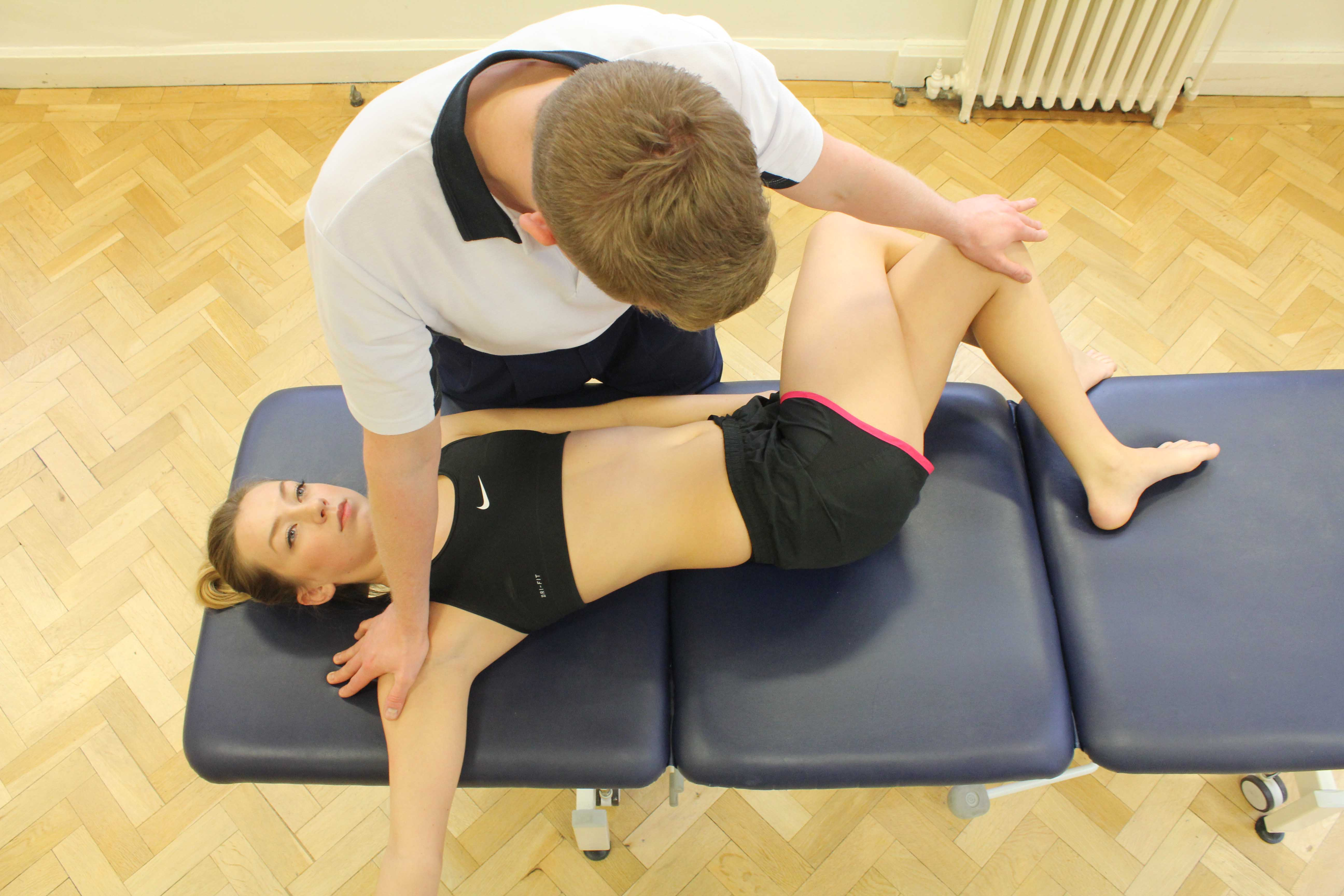 Passive stretches applied by an experienced physiotherapist to improve range of movement