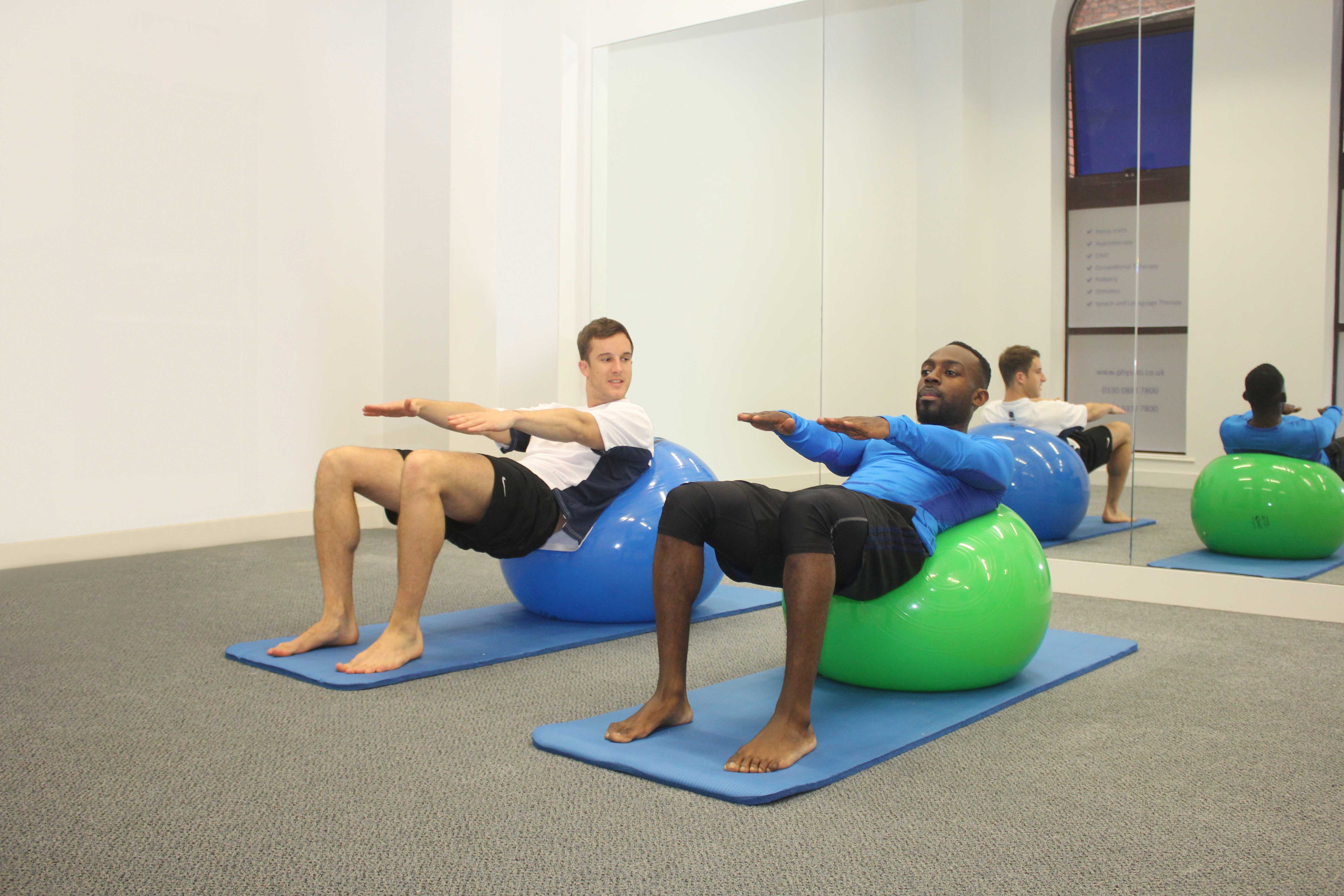 One to one physiolates sessions with a specialist Pilates qualified physiotherapist