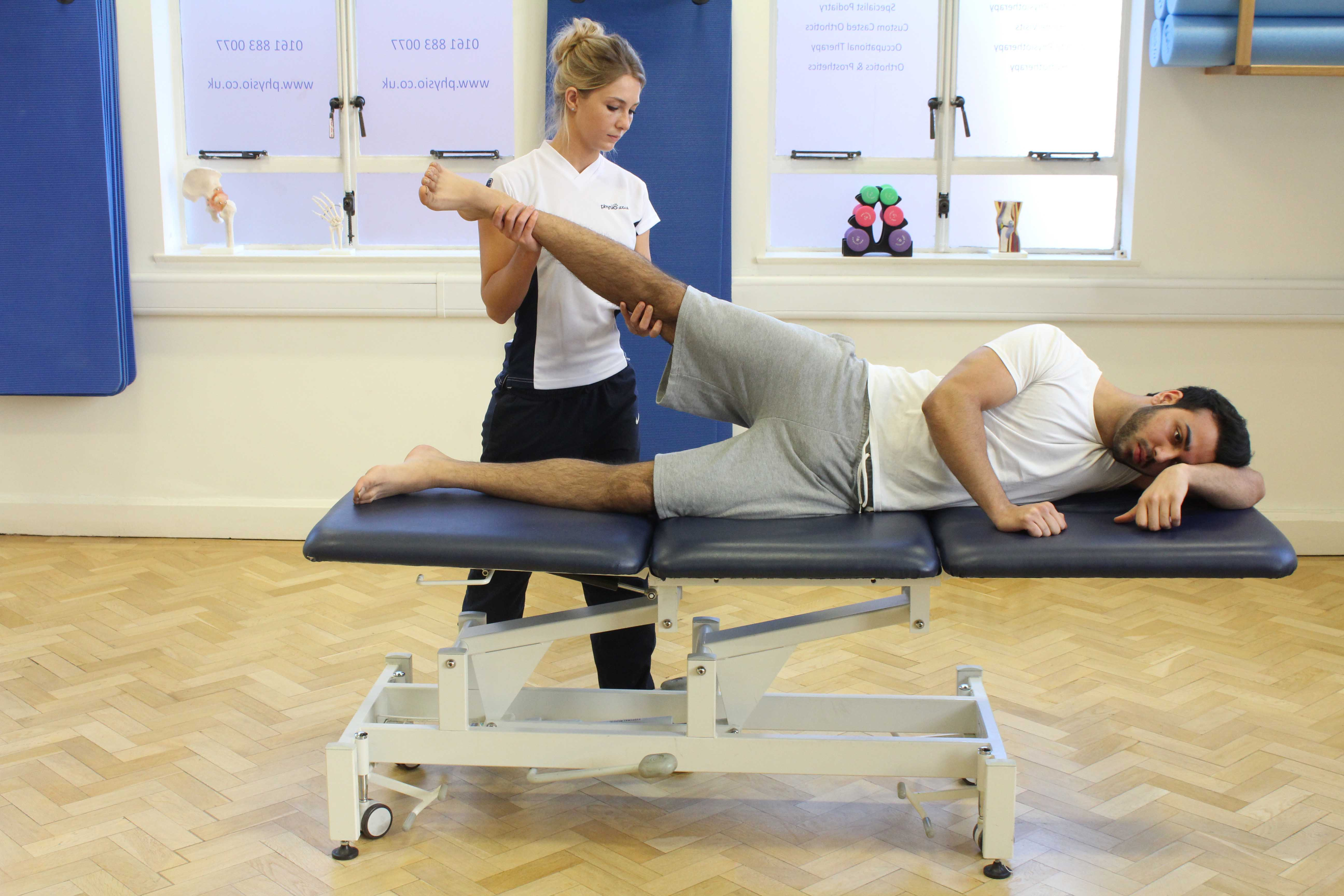 Core stability and proprioception exercises supervised by a neurological physiotherapist