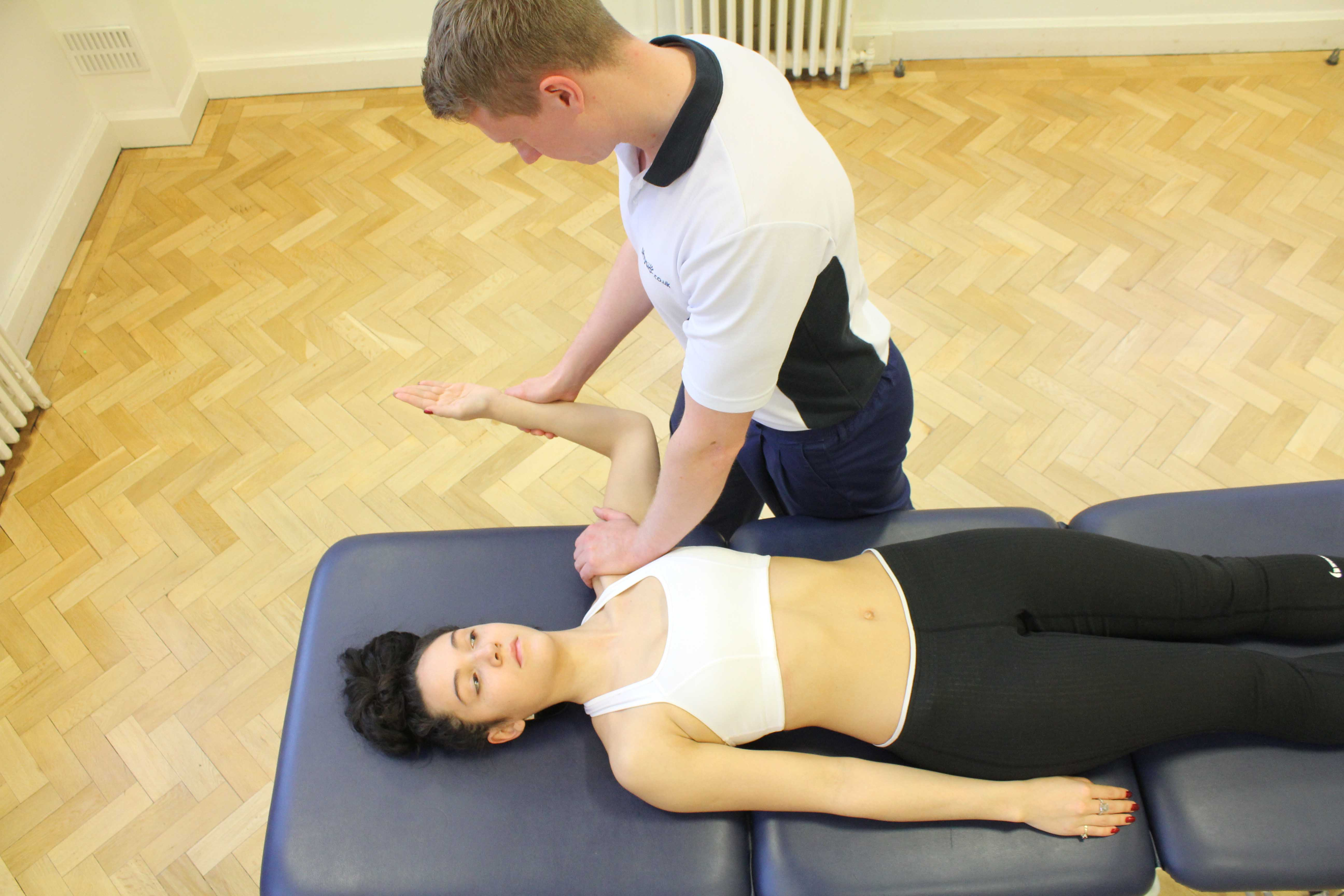 Mobilisation of the shoulder joint to relieve pain and stiffness