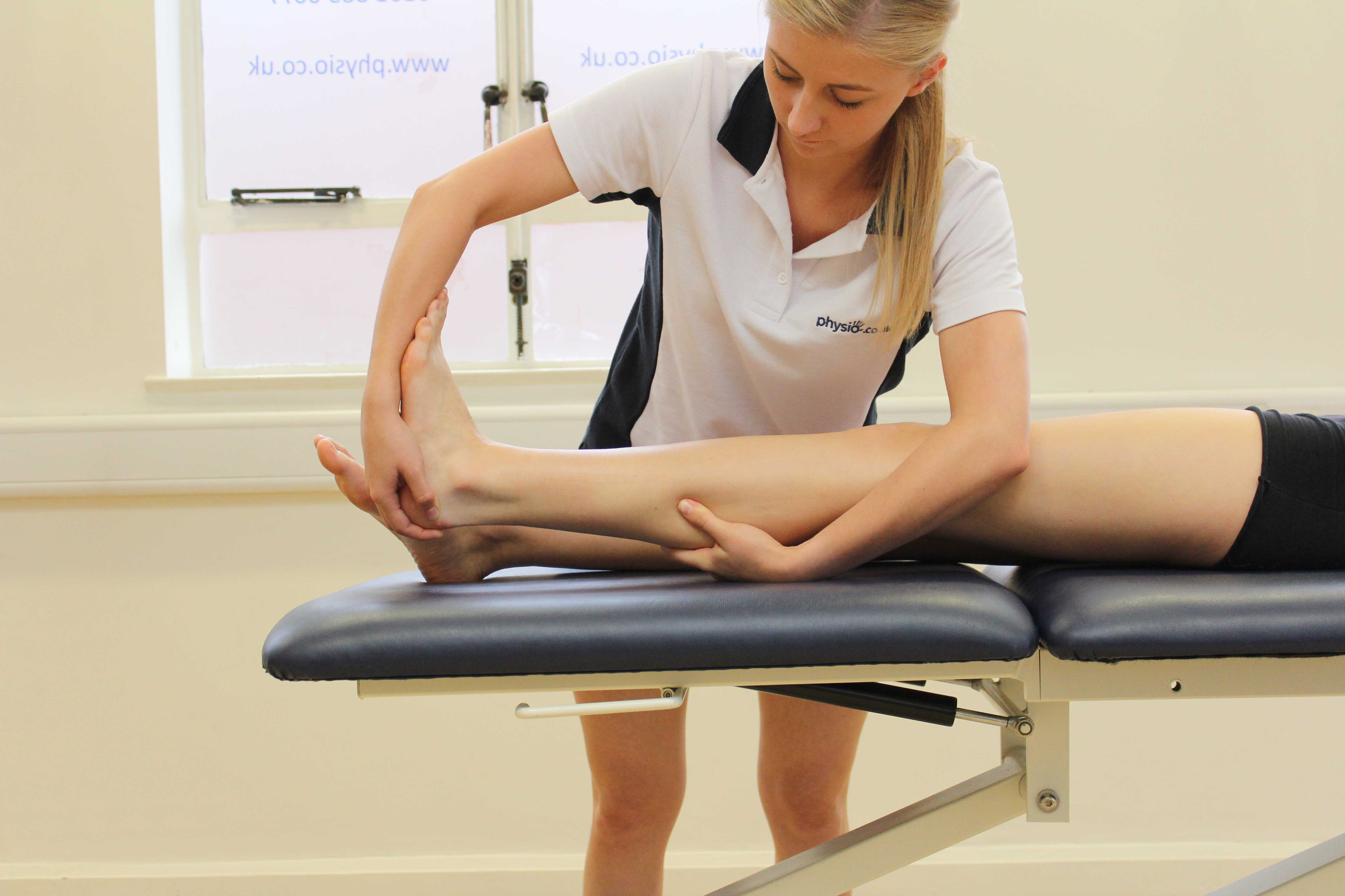 Assessment of the foot and ankle by specialist therapist