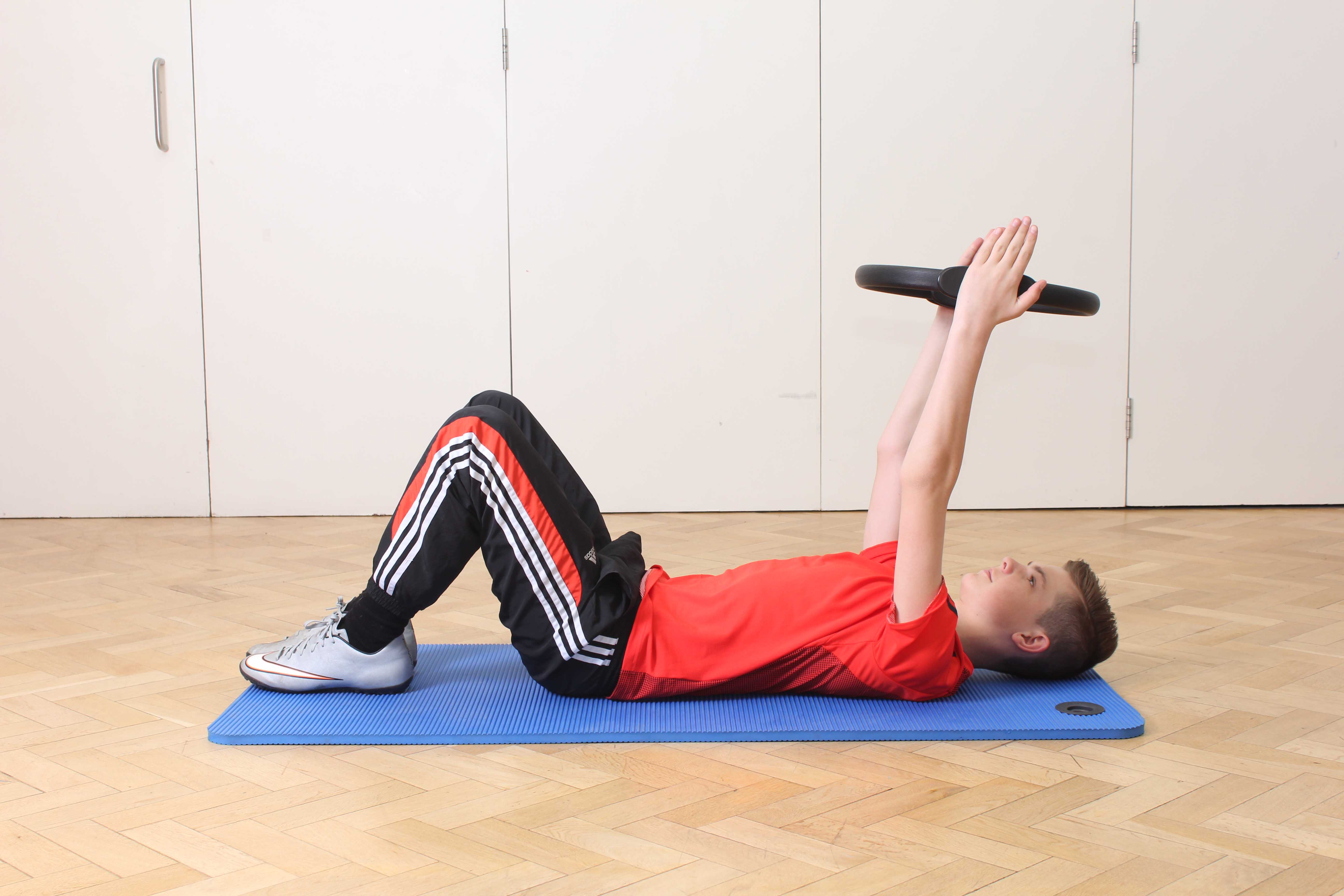 Sretches and realignment exercises for the back