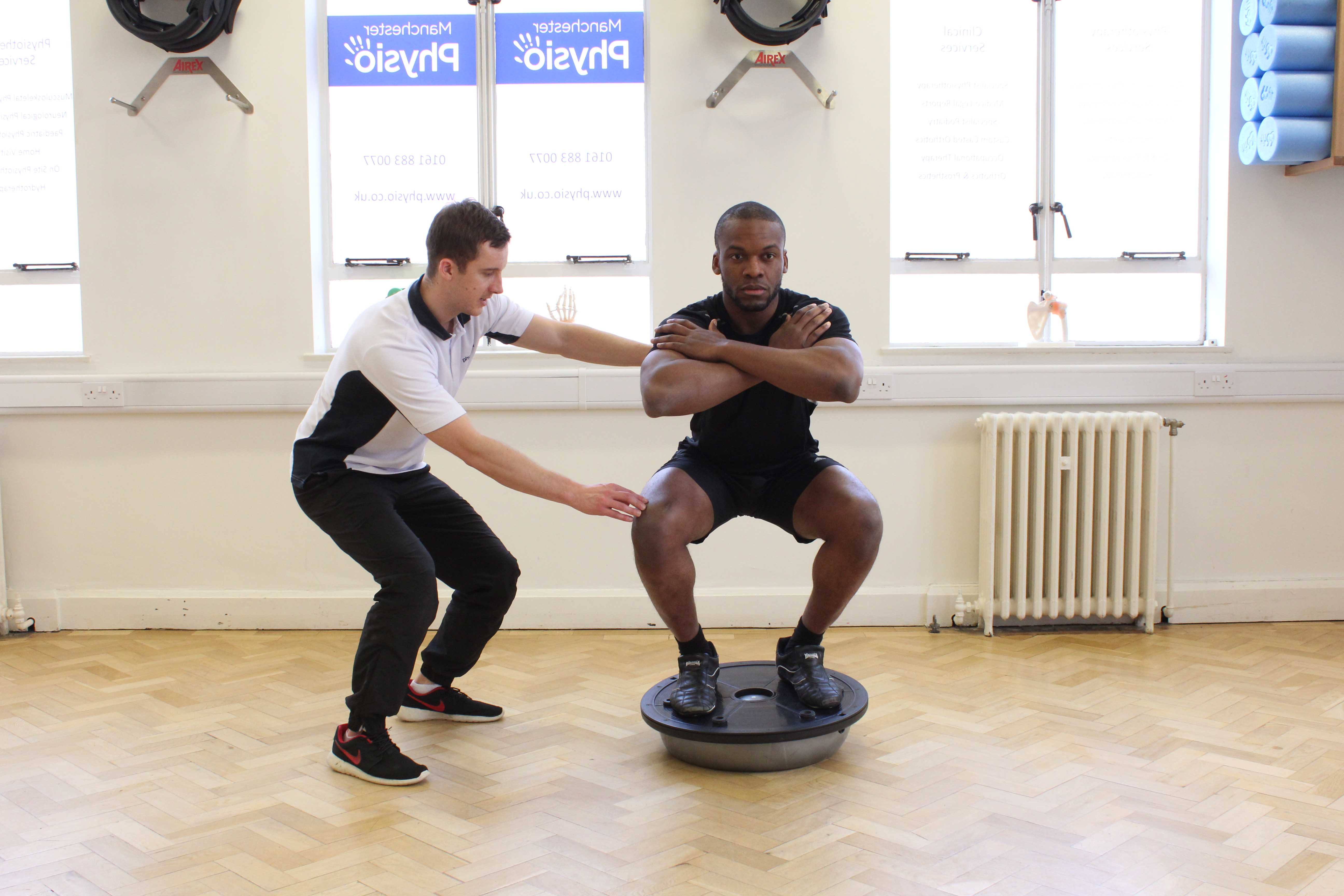 Stability training for the foot and ankle supervised by an experienced physiotherapist