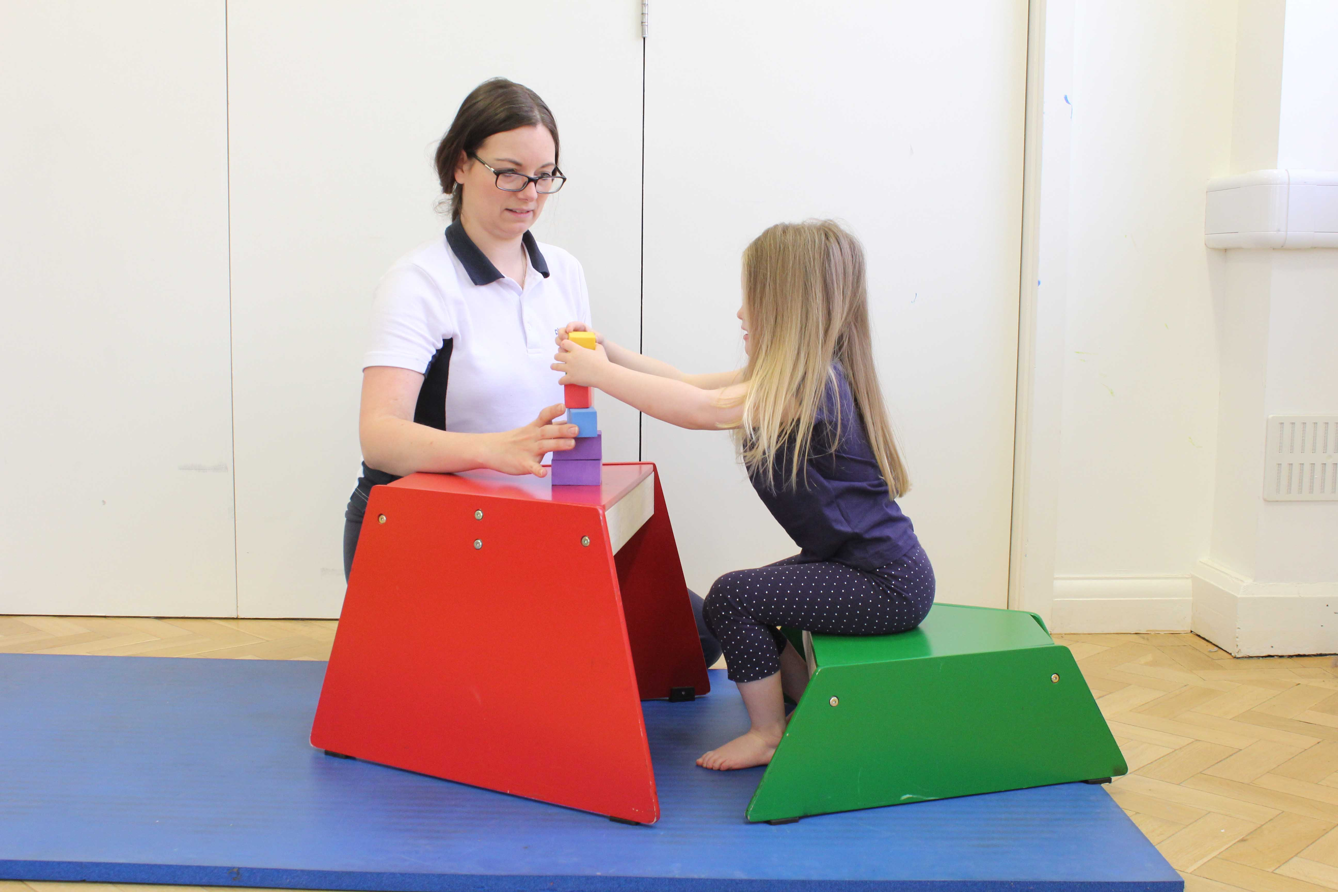Developing sensory understanding through active play assisted by a physiotherapist