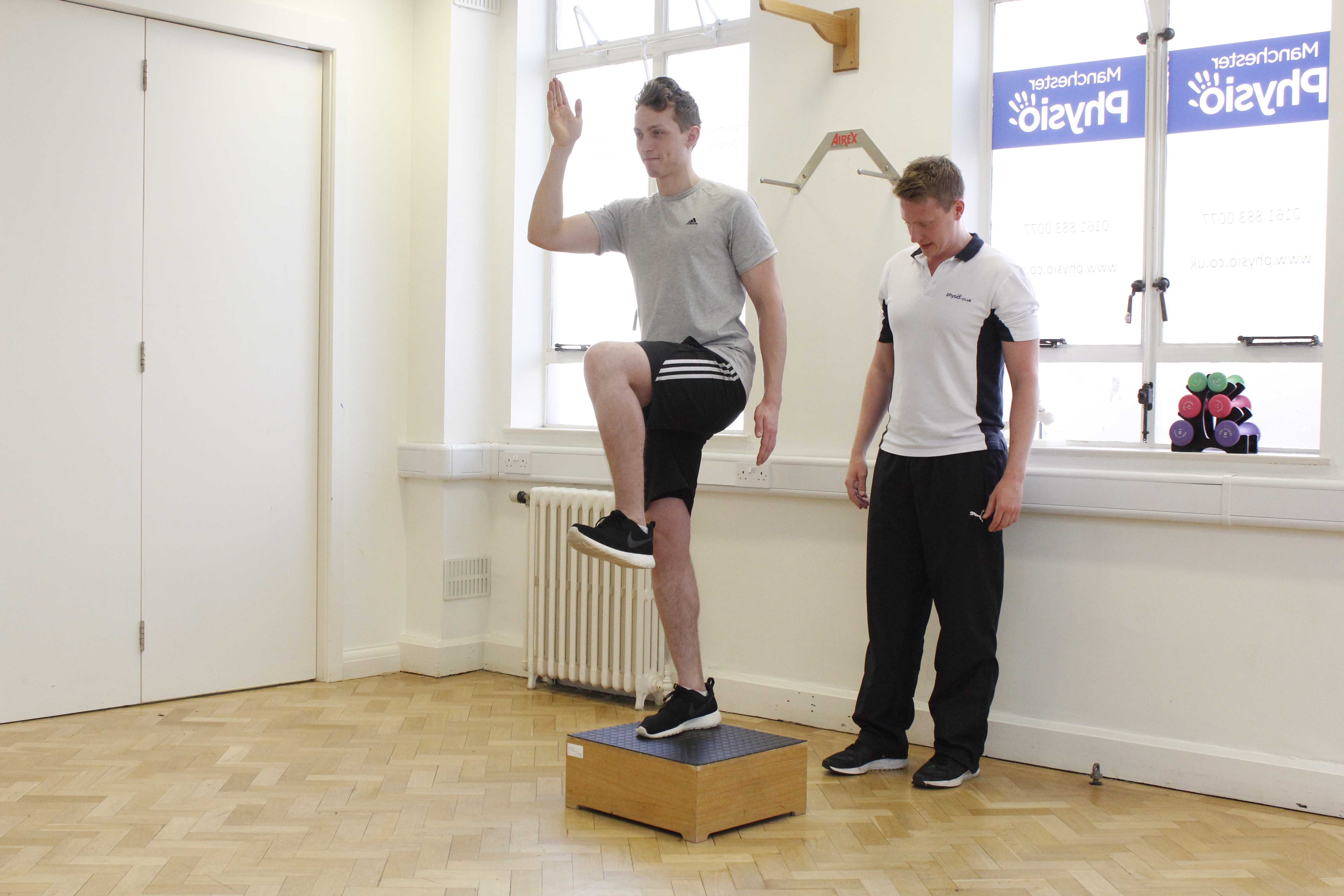 Running injury rehabilitation assessment and exercises