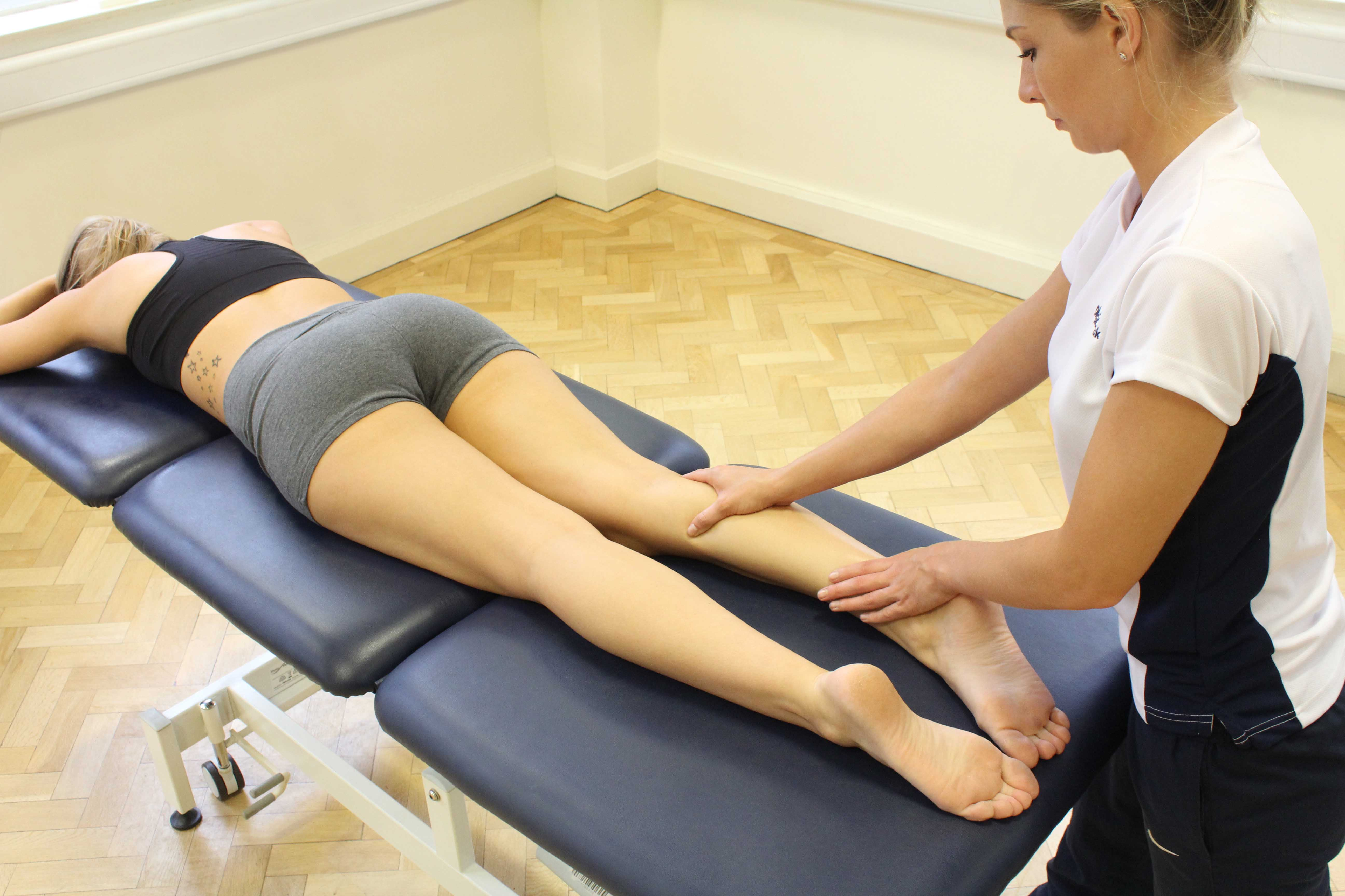 Soft Tissue Massage targeting gastrocnemius and soleus muscles