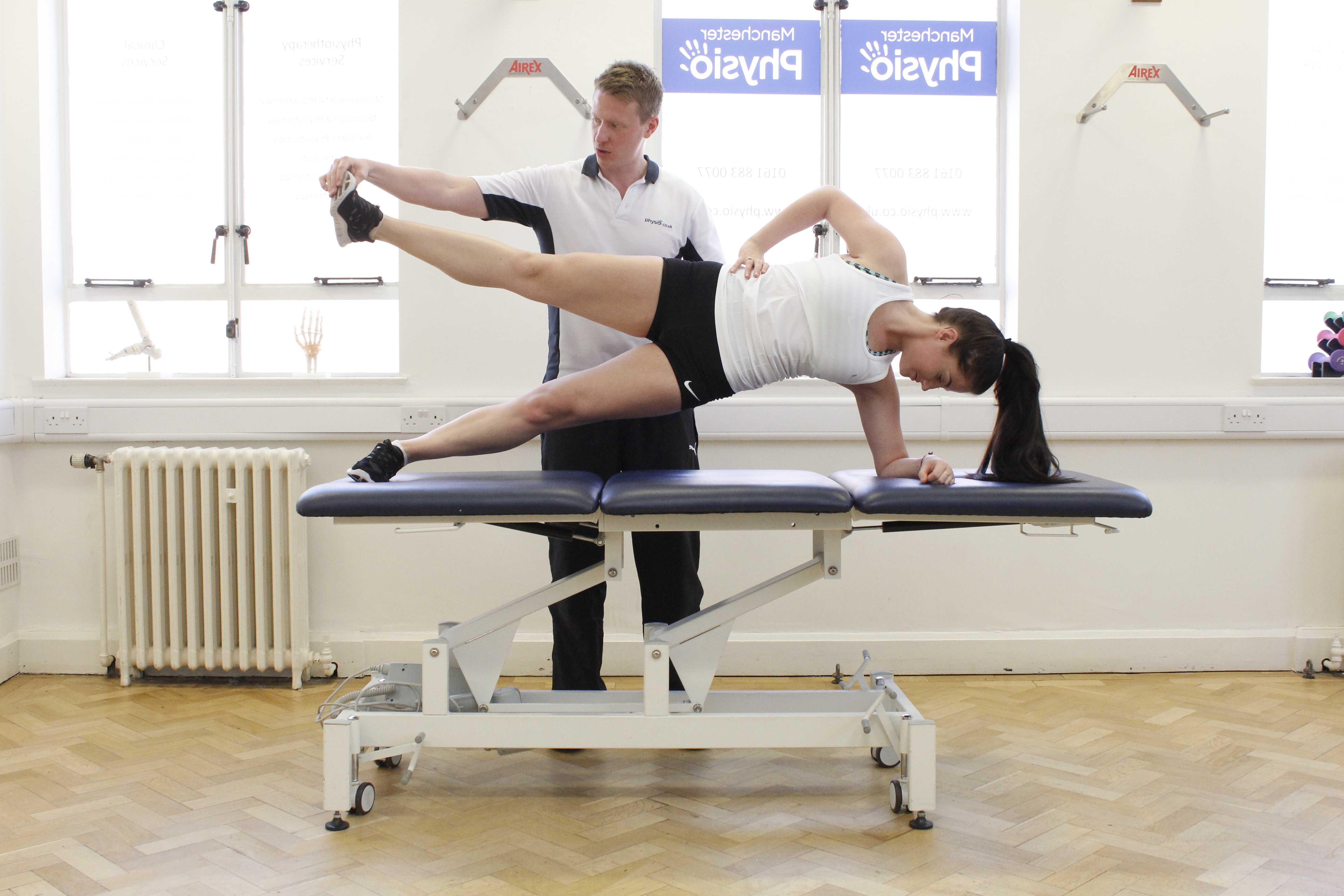 Strengthening and toning exercises performed under the supervision of an experienced physiotherapist