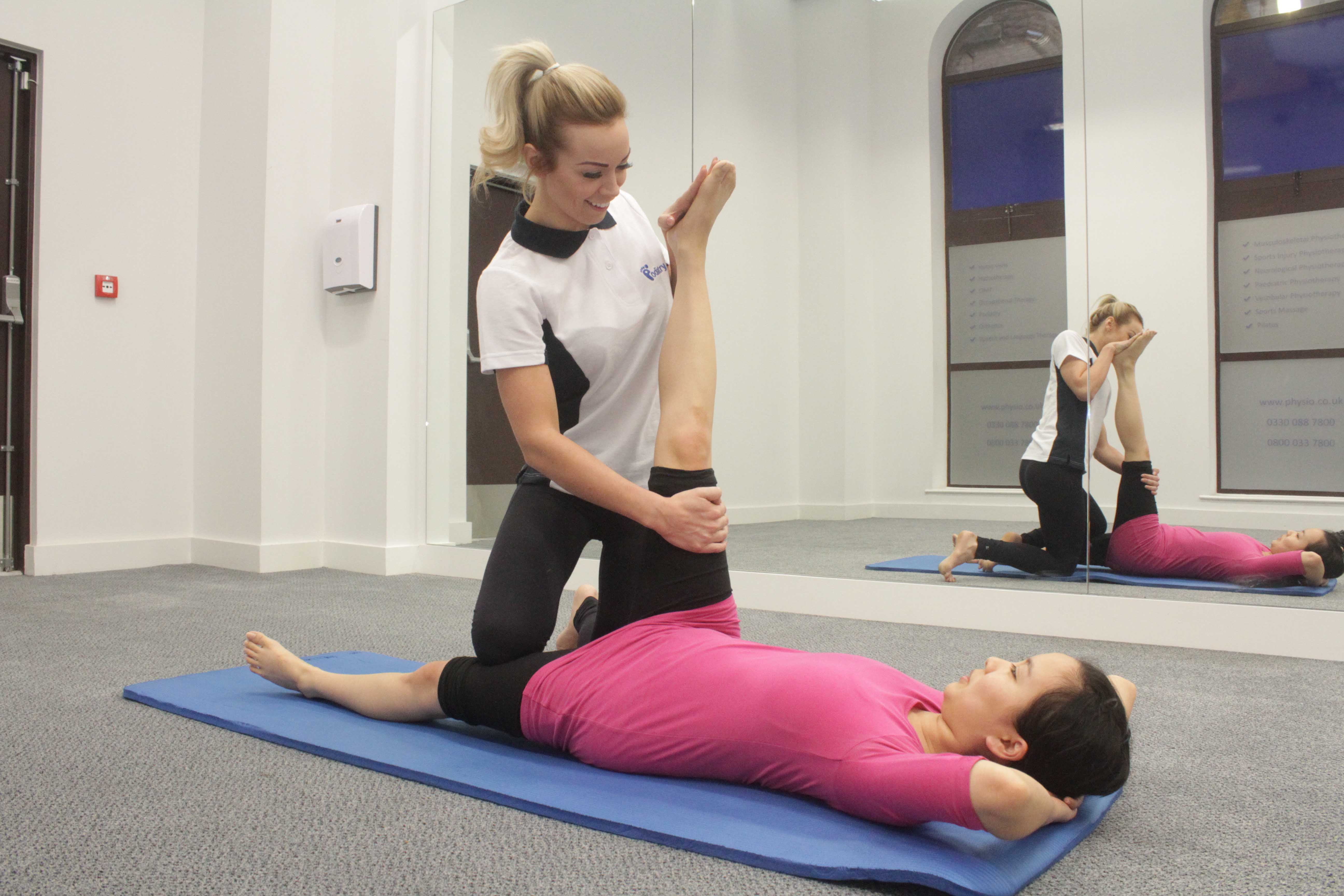 Stengthening exercises under close supervision of paediatric physiotherapist