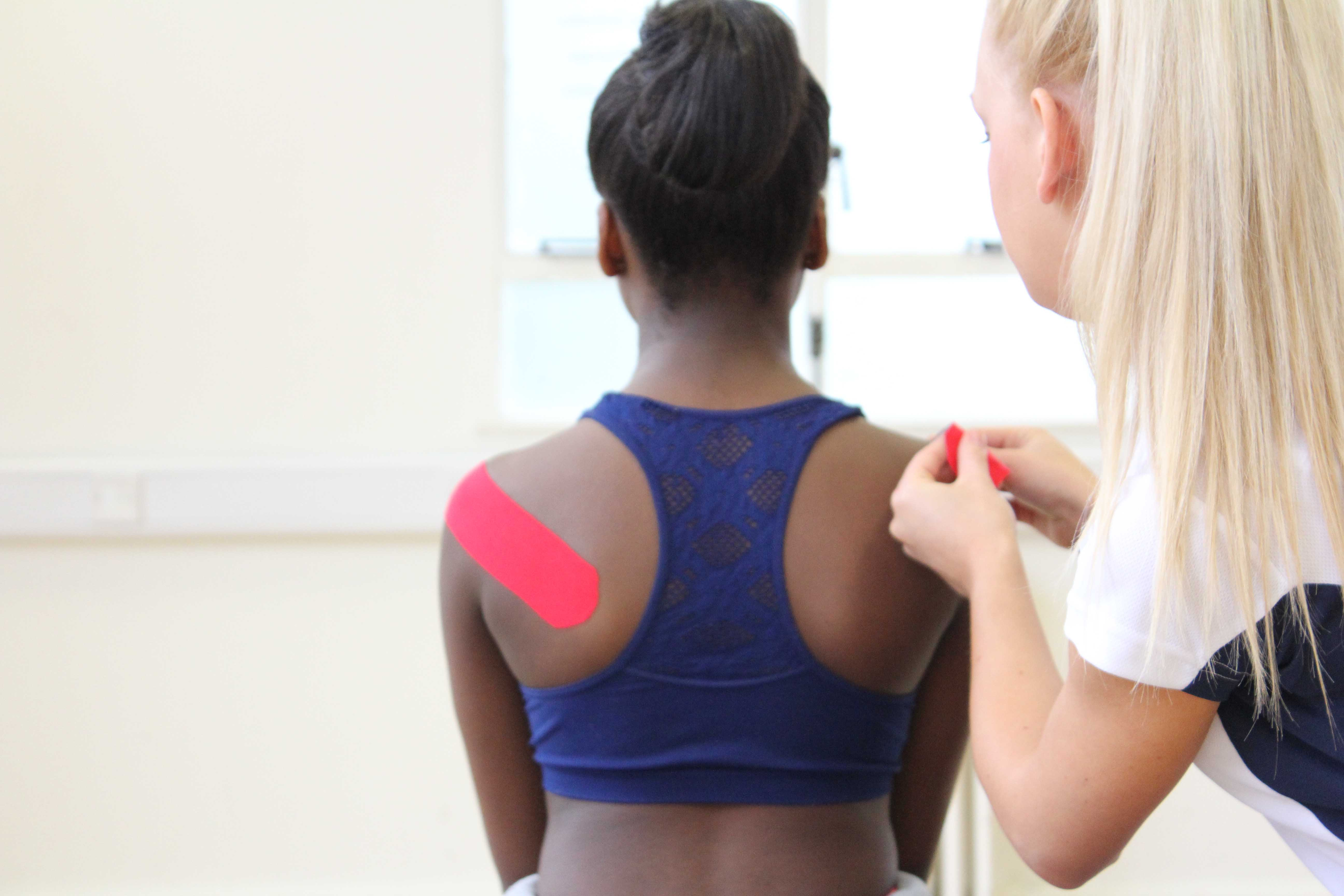 Taping is an effective treatment to help provide patients short term with support and stability.