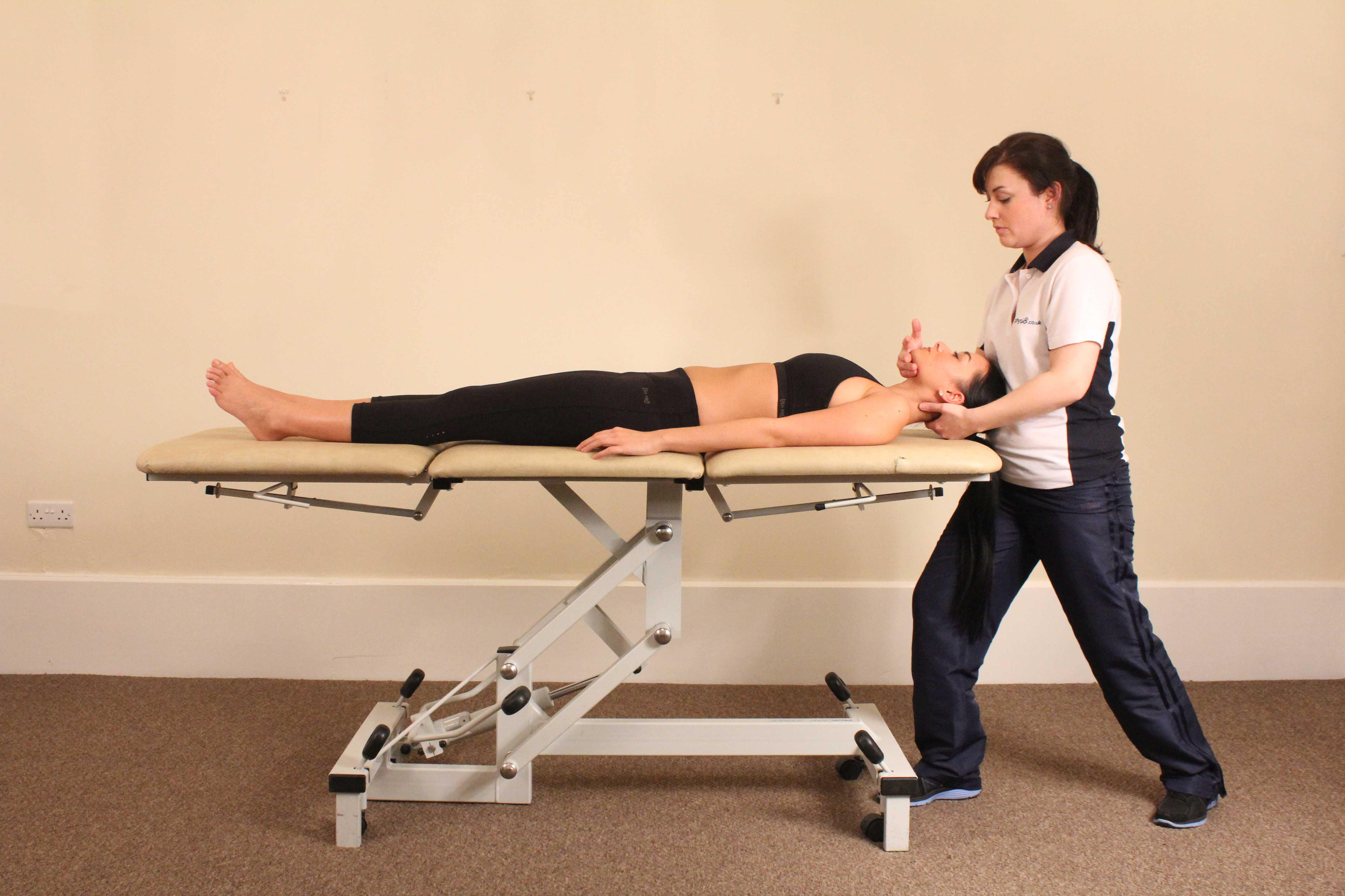 Passive stretches and mobilisations of the cervical spine and muscles of the neck to relieve pain and stiffness