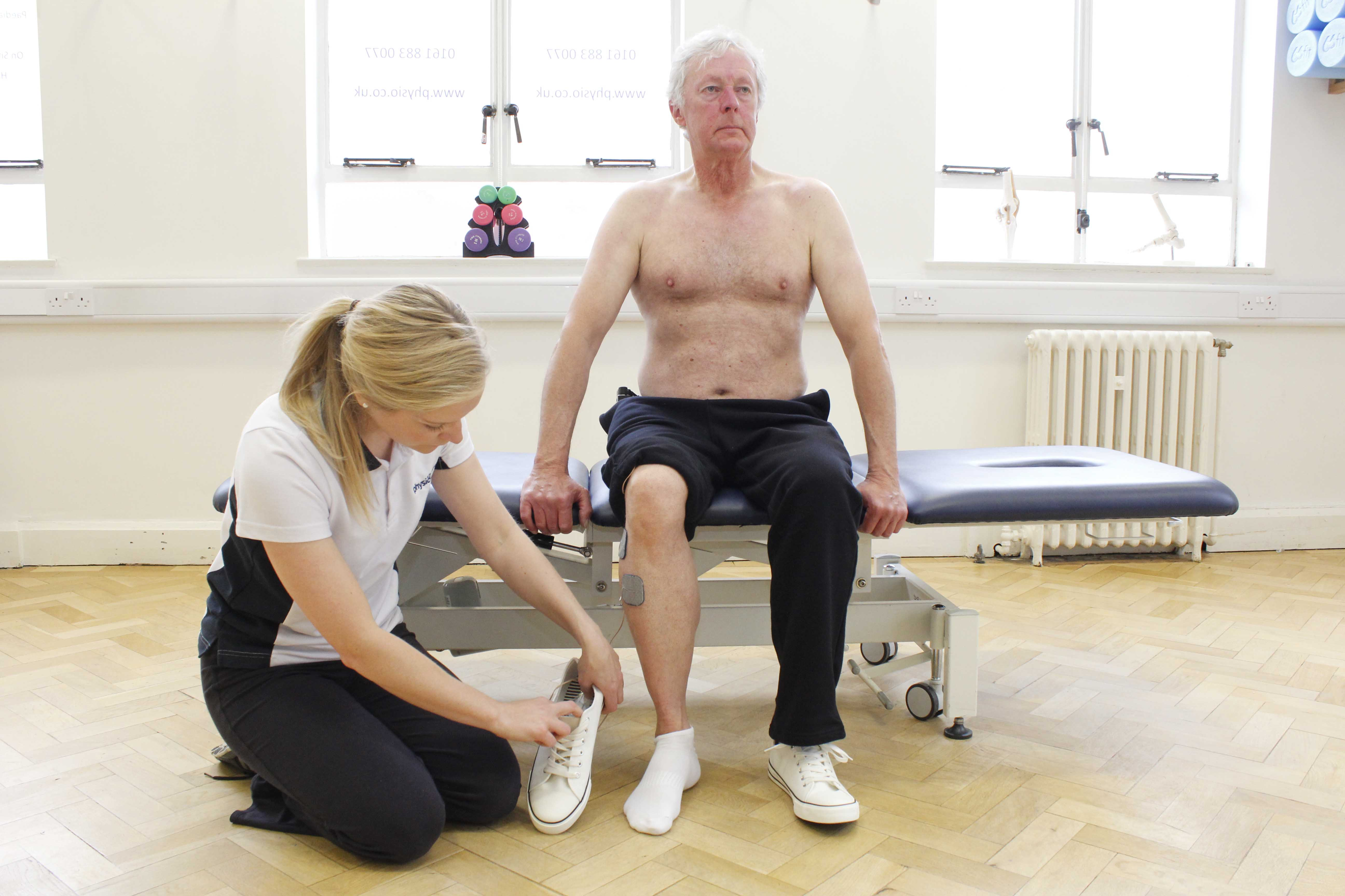 Use of functional electrical stimulation by a neurological physiotherapist to aid mobility