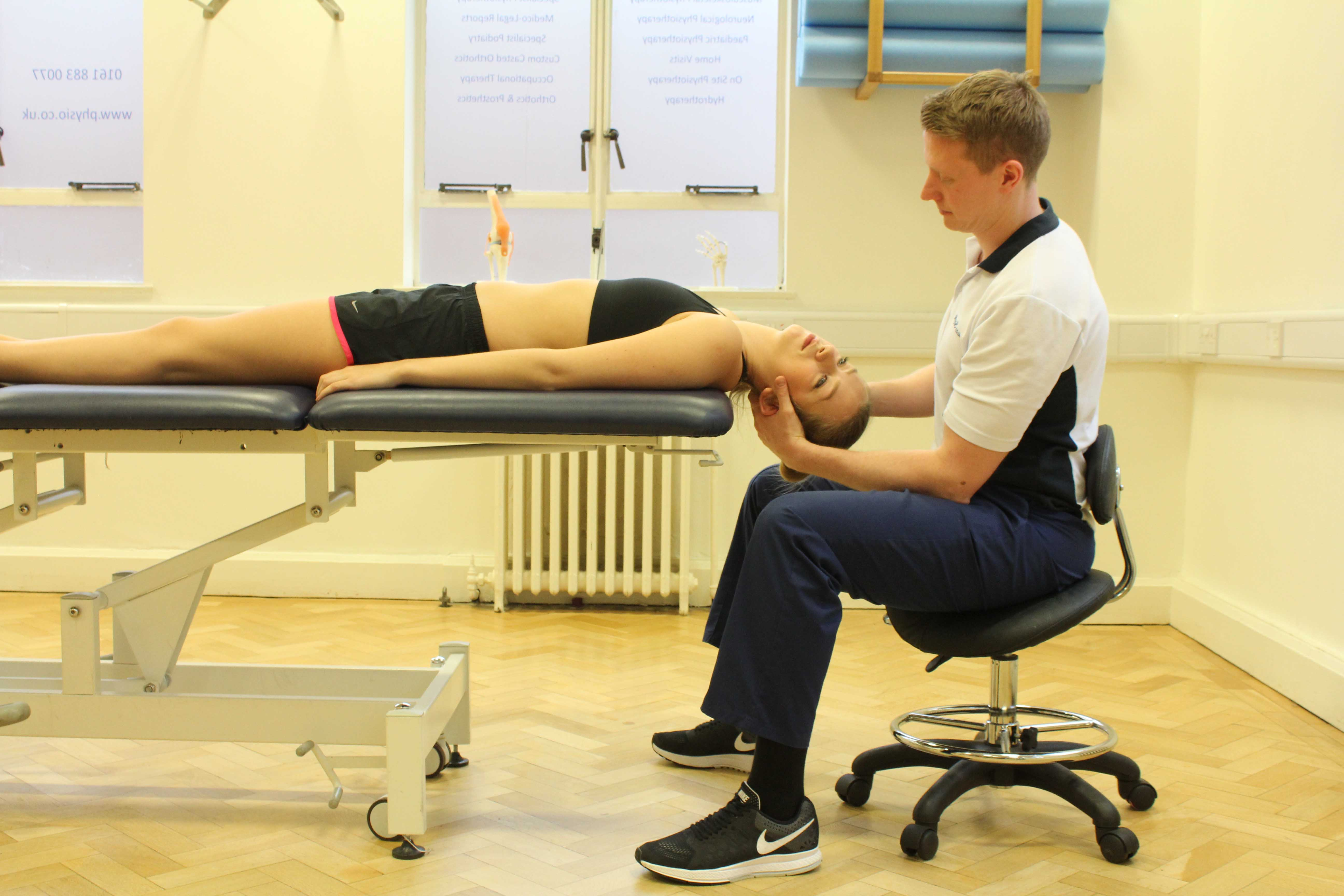 Vetsibular rehabilitation exercises carried out by a specialist physiotherapist